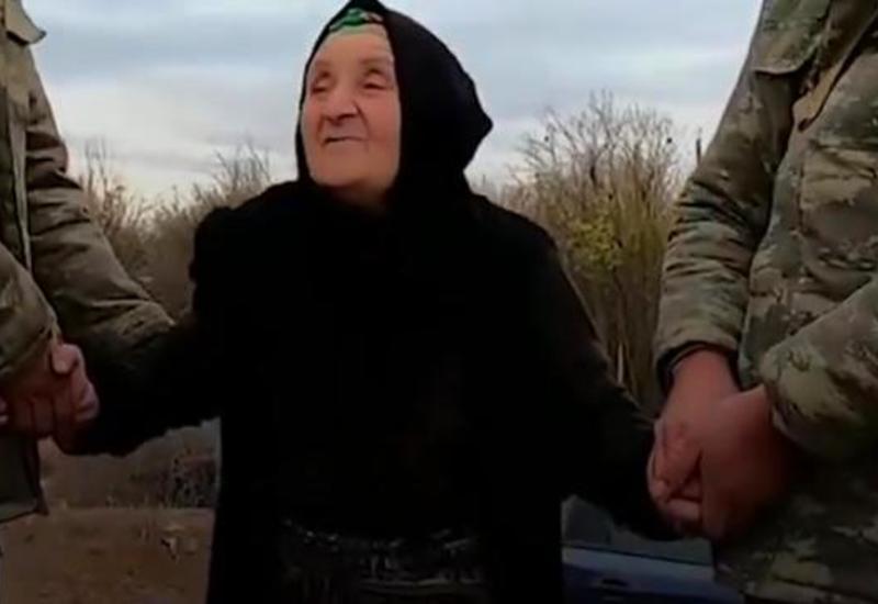 Азербайджанские солдаты устроили сюрприз бабушке, которая поддерживала их всю войну