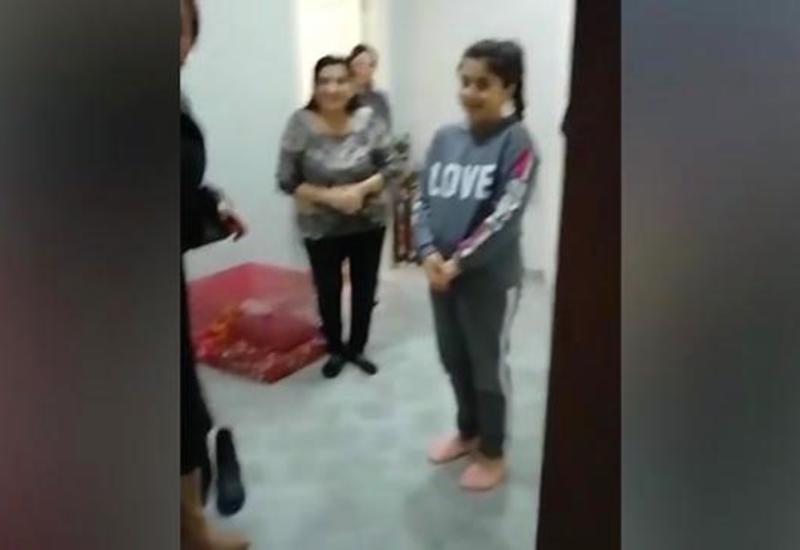 Азербайджанский офицер встретился с девочкой, которая написала ему письмо во время войны в Карабахе