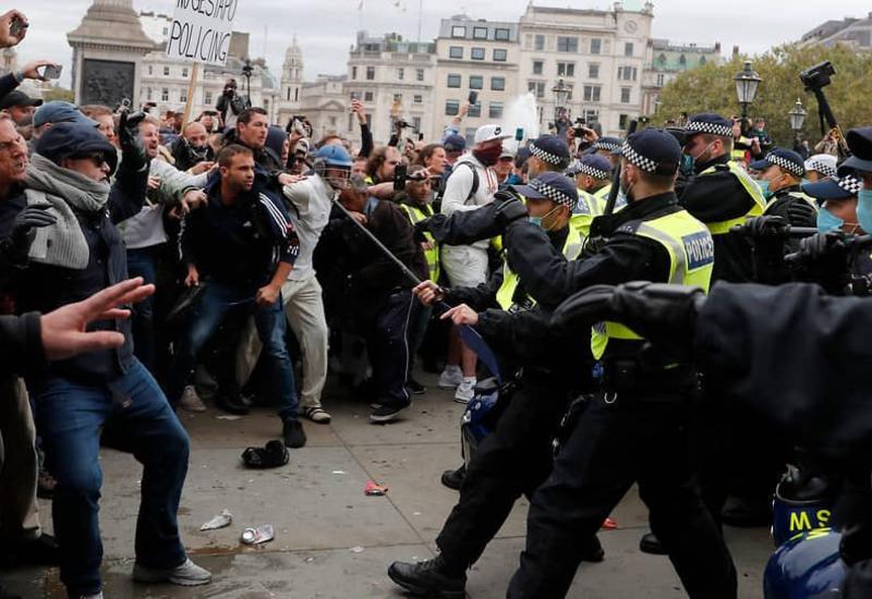 Акции протеста в Лондоне
