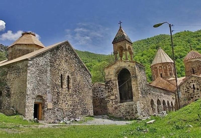 История древнего Албанского монастыря Худавенг в Кельбаджарском районе Азербайджана