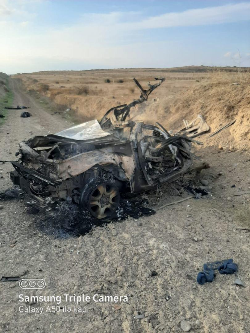 ANAMA опубликовала фотографии автомобиля, подорвавшегося на мине в Физули