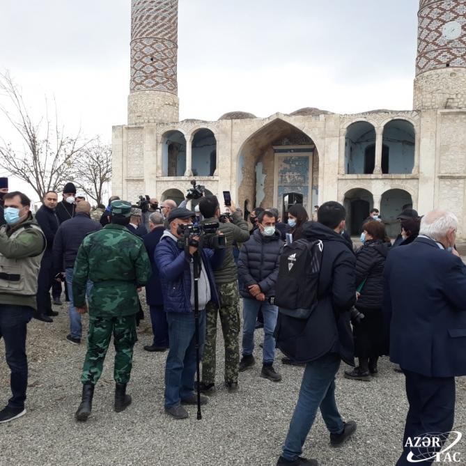 Хикмет Гаджиев и представители дипкорпуса прибыли в Агдам