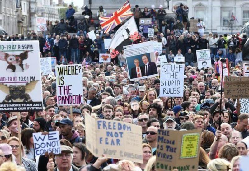 Полиция задержала 155 участников акции протеста в Лондоне