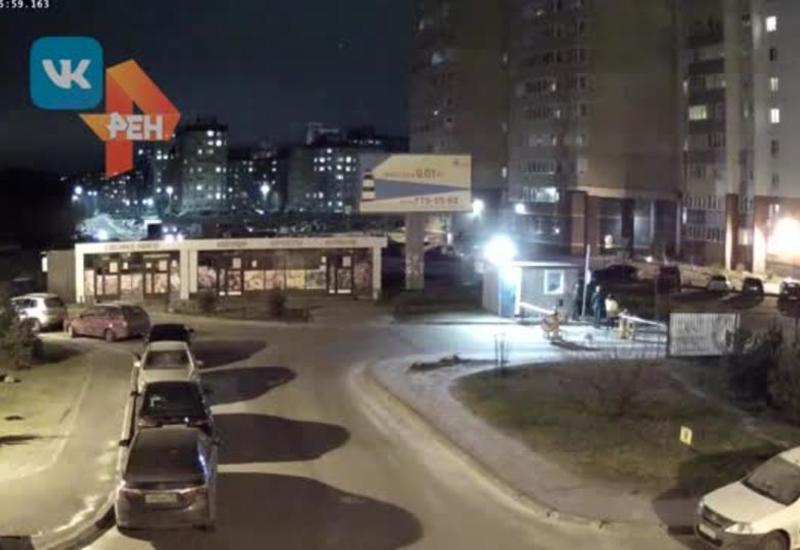 Момент взрыва  в жилом доме во Всеволожске