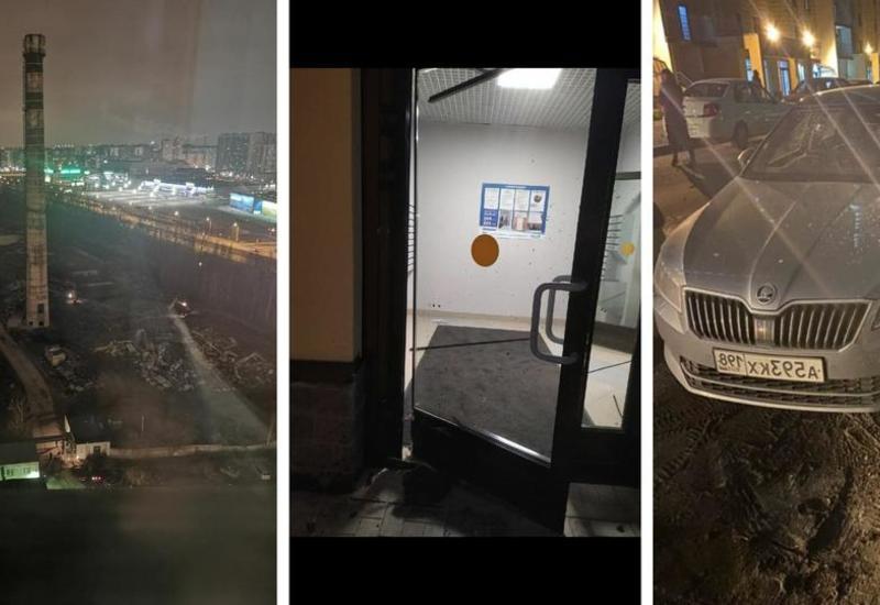 Более 10 машин повреждены после подрыва старой трубы в Петербурге