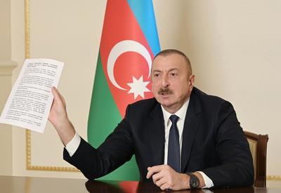 Президент Ильхам Алиев: Лачинский коридор проходит через город Лачин. Мы предложили построить новый коридор