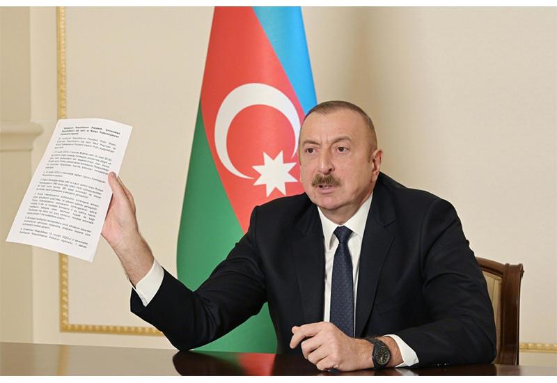 Президент Ильхам Алиев: Я всегда говорил, что если Лачин, Кяльбаджар и Шуша не вернутся к Азербайджану, то никакого соглашения быть не может