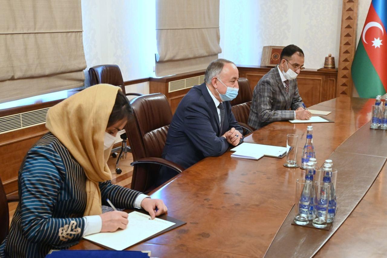 Глава МИД Азербайджана встретился с новым послом Афганистана