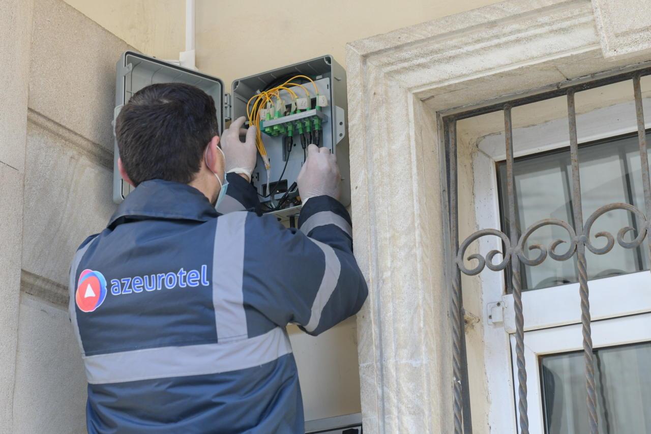 Baktelecom сдал в пользование в заповеднике «Ичеришехер» оптическую сеть, отвечающую современным стандартам