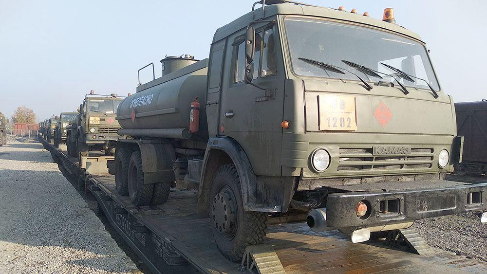 Привезенные для российских миротворцев очередные средства материально-технические обеспечения доставлены в пункт назначения