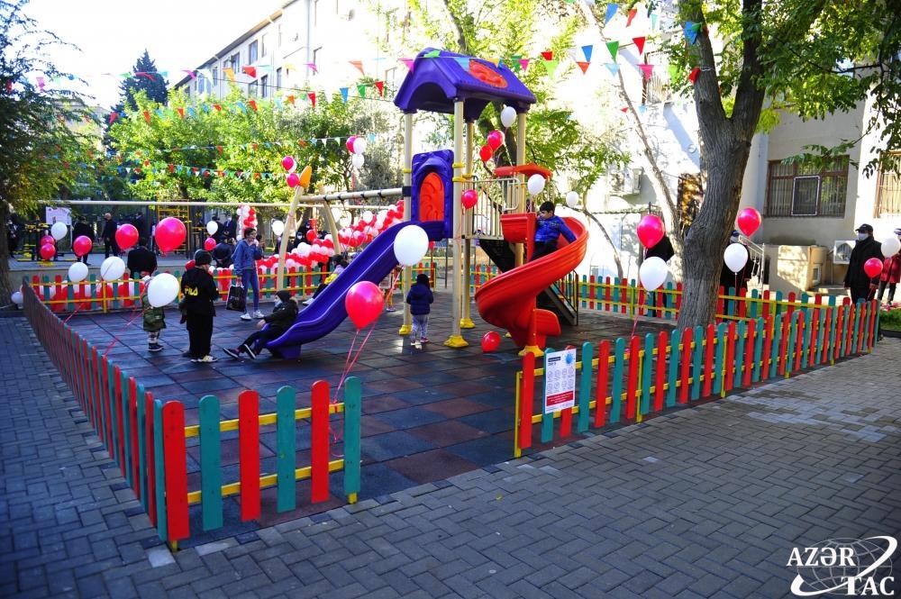 В рамках проекта «Наш двор» в Насиминском районе Баку благоустроен и передан в пользование жителей очередной двор