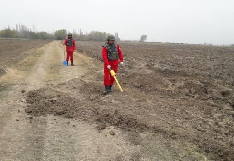 Завершено разминирование участка строящейся дороги Тертер-Суговушан
