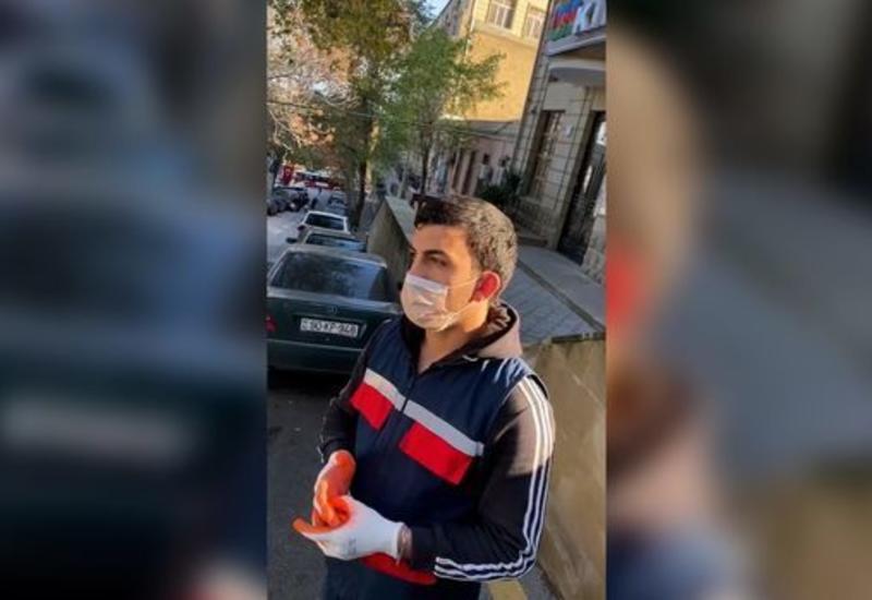 В Баку инфицированный COVID-19 разгуливал по улицам