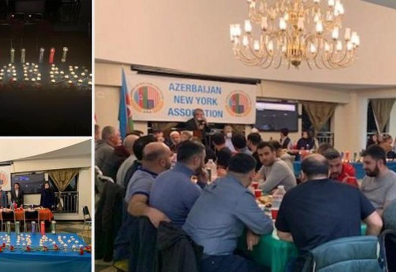 В Нью-Йорке почтили память шехидов Отечественной войны Азербайджана