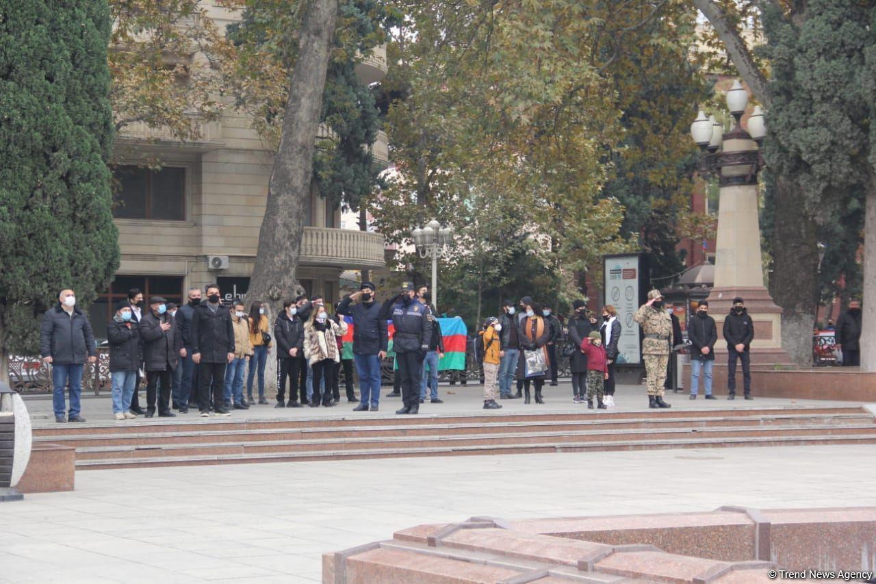 Жители Гянджи почтили светлую память шехидов Отечественной войны