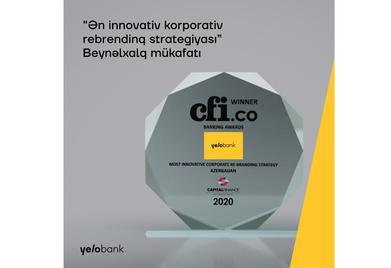 Yelo Bank получил награду «Самая инновативная корпоративная стратегия ребрендинга» (R)