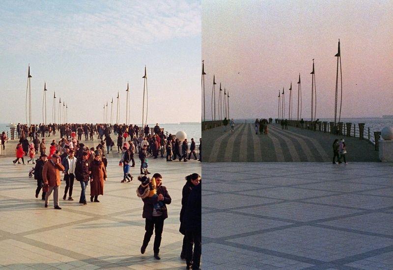 Вид Баку с разницей в год в объективе Эмиля Агаева