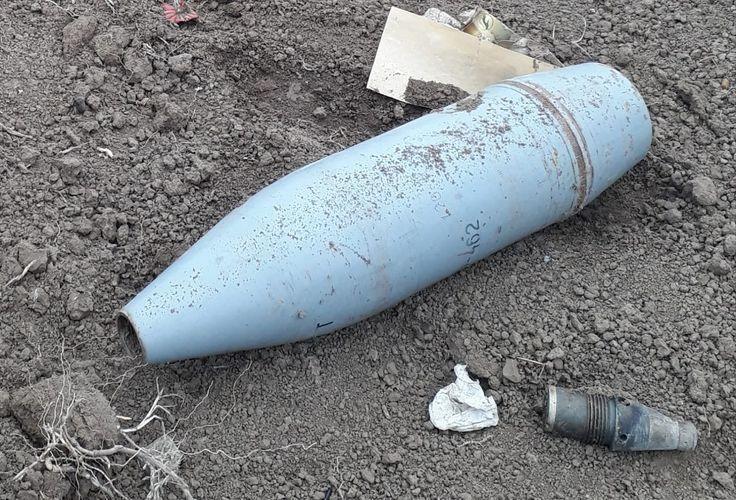В прифронтовых районах обнаружены неразорвавшиеся боеприпасы