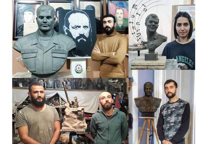Молодые скульпторы увековечивают память о героях карабахской войны