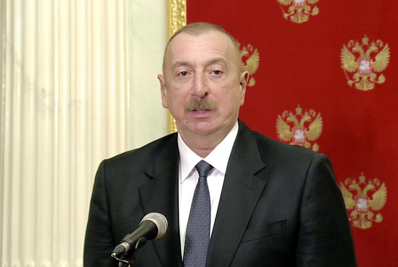 Президент России, Президент Азербайджана и премьер-министр Армении выступили с заявлением для печати
