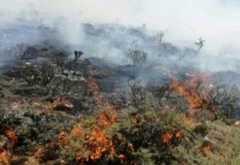 В Астаре произошел сильный пожар