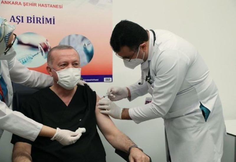Эрдоган привился от коронавируса