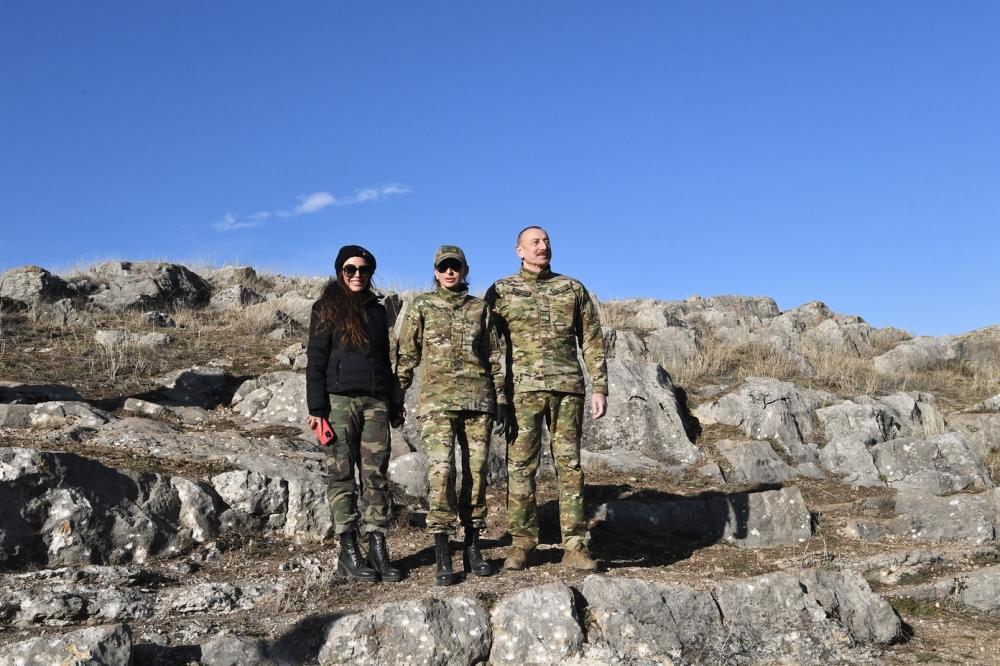 Президент Ильхам Алиев и Первая леди Мехрибан Алиева побывали на Джыдыр дюзю