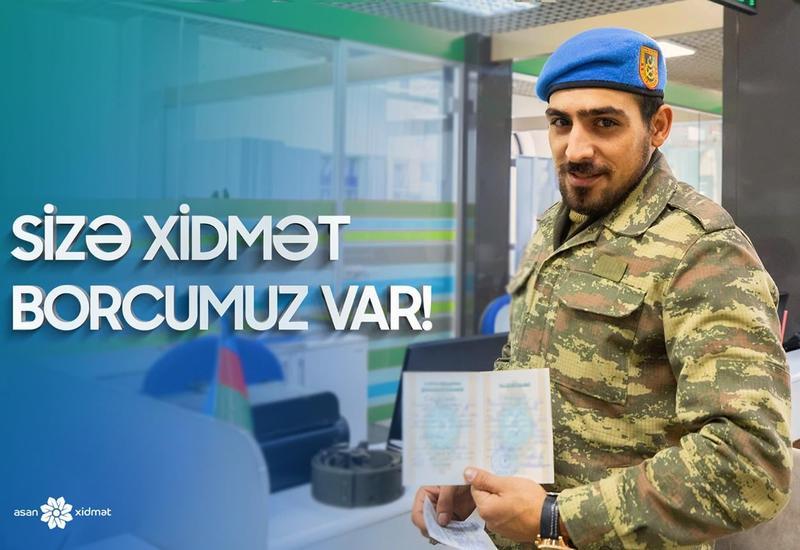 """Новшество в центрах """"Службы ASAN"""" для раненых в ходе Карабахской войны и семей шехидов"""