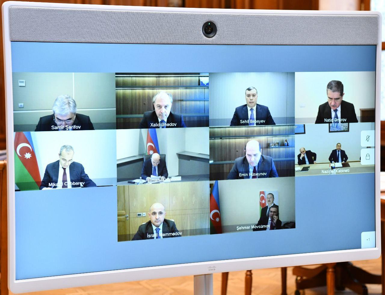 Состоялось первое в 2021 году заседание Экономического совета Азербайджана