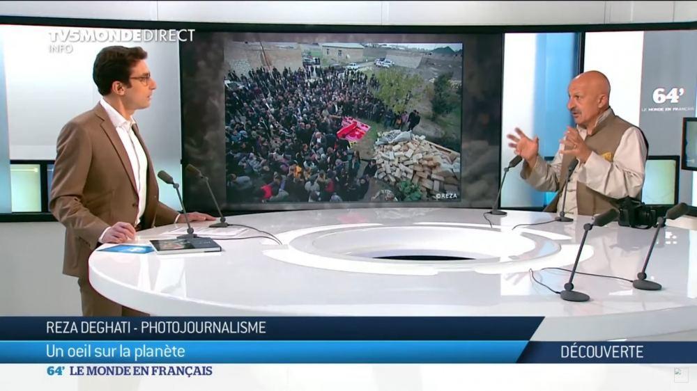 Всемирно известный фотограф Реза Дегати рассказал французскому телеканалу об истории города Шуша