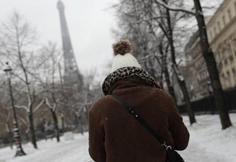 Обильные снегопады в Европе