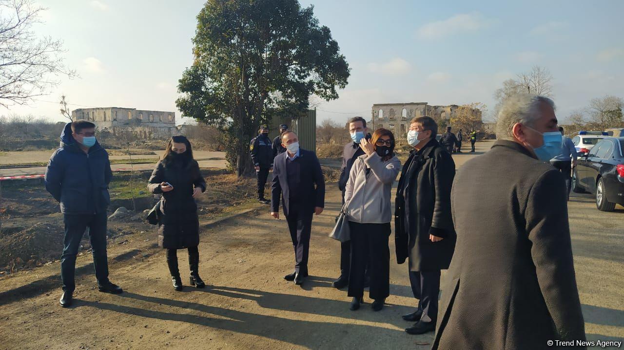 Делегация Тюркского совета и ТЮРКСОЙ посетила Агдам