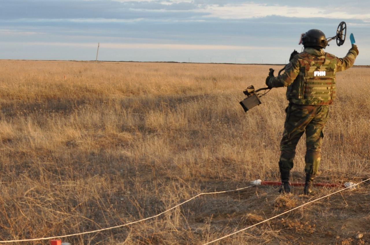 Азербайджанские и российские саперы обезвредили сотни мин