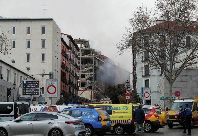 Кадры последствий мощного взрыва в центре Мадрида