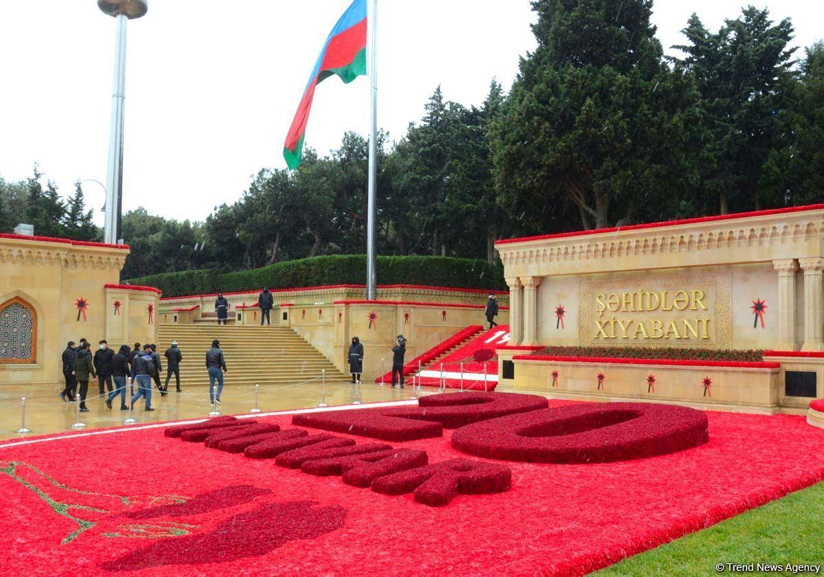Азербайджанцы чтят светлую память жертв 20 Января