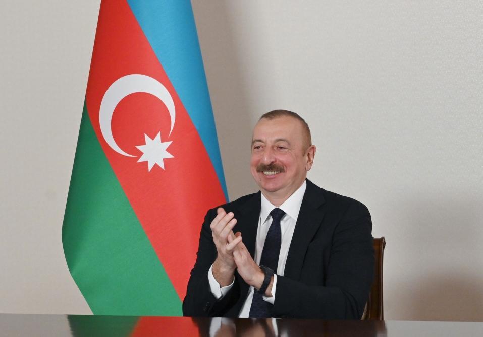 Состоялась встреча между Президентом Азербайджана Ильхамом Алиевым и Президентом Туркменистана Гурбангулы Бердымухамедовым в формате видеоконференции