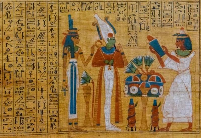 """Четырехметровый свиток """"Книги мертвых"""" найден в могиле в Египте"""