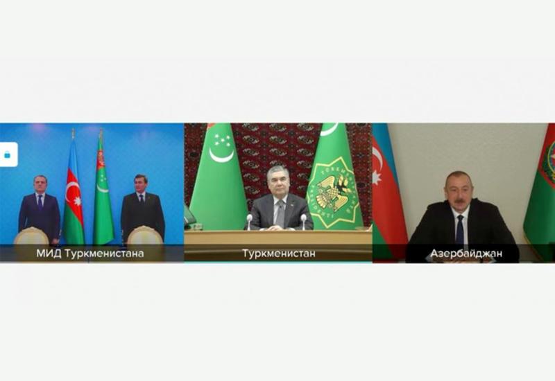 """Azərbaycanla Türkmənistan arasında Xəzərdə """"Dostluq"""" yatağının birgə işlənməsinə dair Memorandum imzalanıb"""