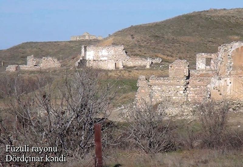 Первые кадры из села Дордчинар Физулинского района