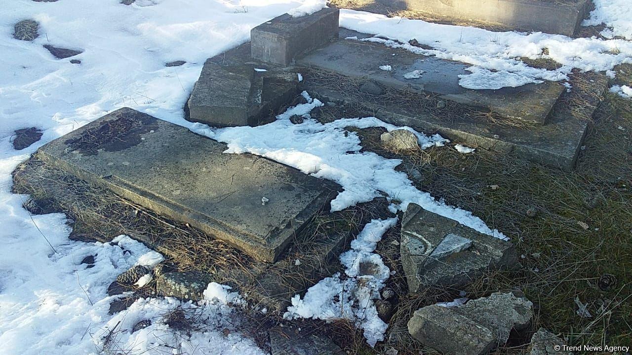 Армяне грабили могилы азербайджанцев в поисках золотых зубов
