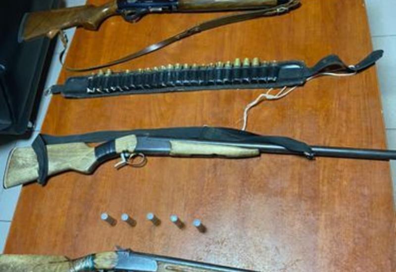 В Дашкесане задержаны лица, незаконно хранившие оружие