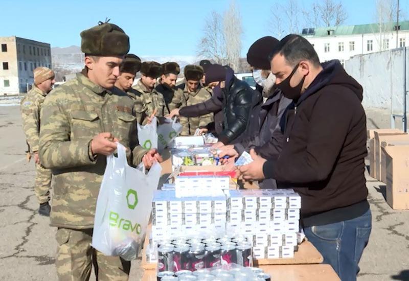 При поддержке Фонда Гейдара Алиева военнослужащим, проходящим службу в Губадлинском и Ходжавендском районах, доставлена продовольственная помощь