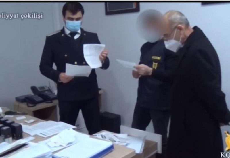 Распространены кадры задержания директора Масаллинской центральной больницы