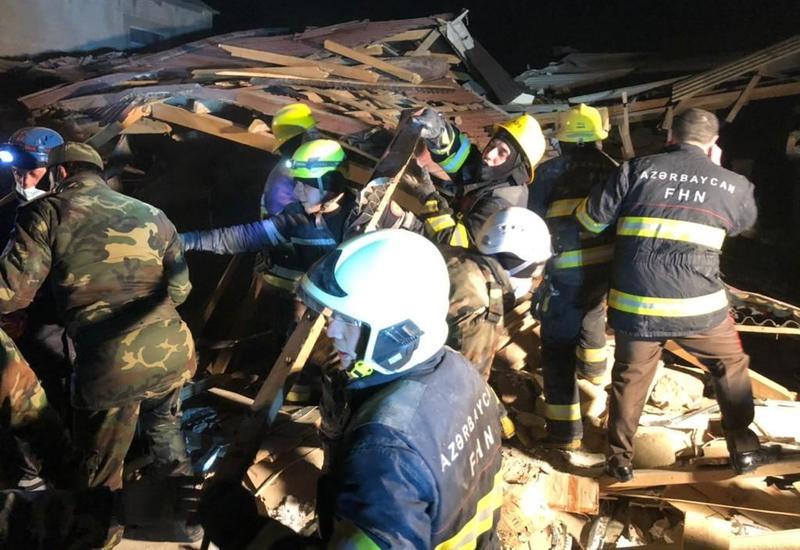 Новые кадры с места сильного взрыва в Хырдалане