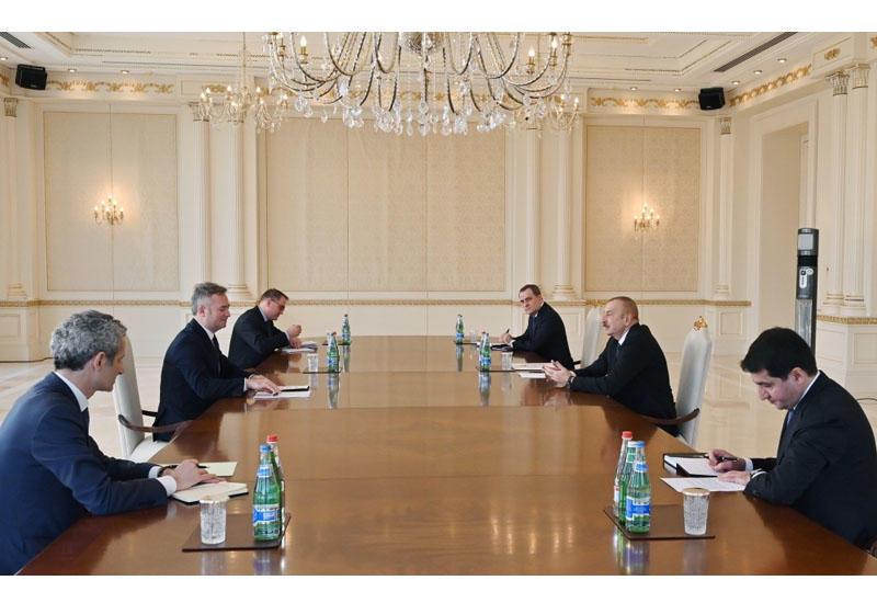Президент Ильхам Алиев принял госсекретаря министерства Европы и иностранных дел Франции