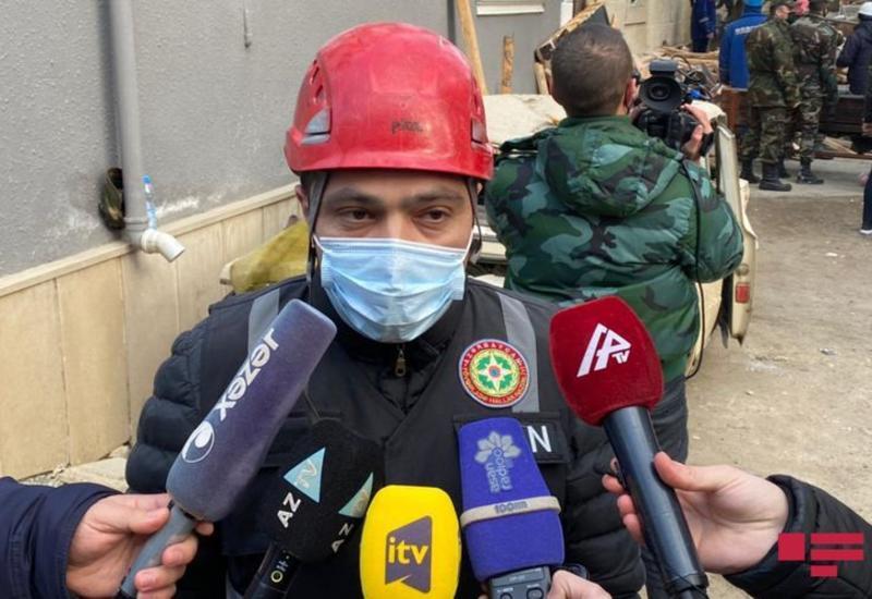Есть вероятность, что под завалами дома в Хырдалане остались люди