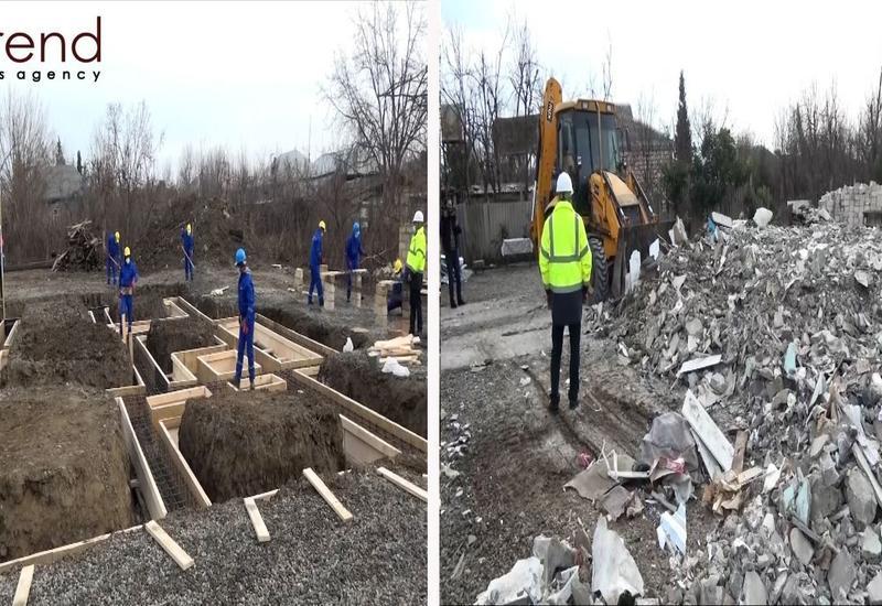 В Азербайджане восстанавливают пострадавшие от армянской агрессии дома и объекты
