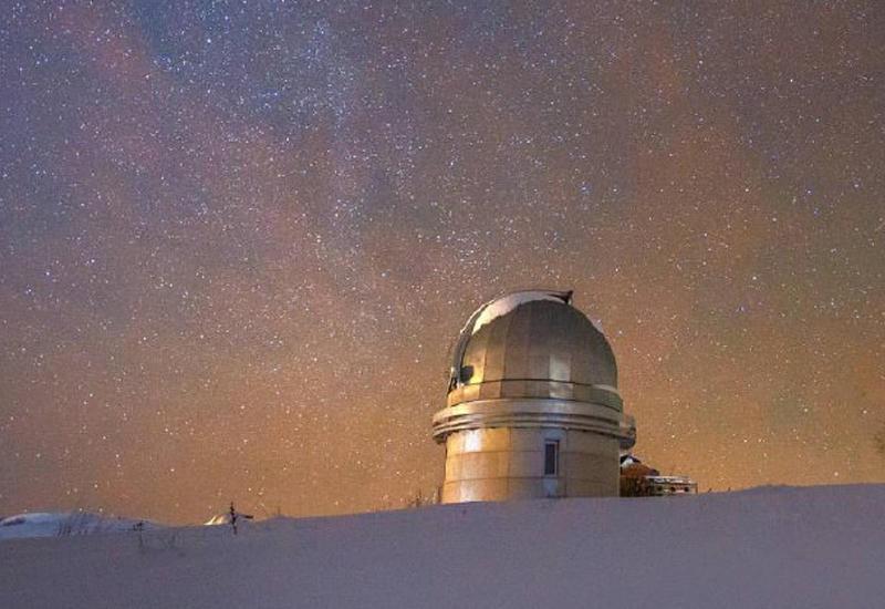 Ночной вид Шемахинской обсерватории