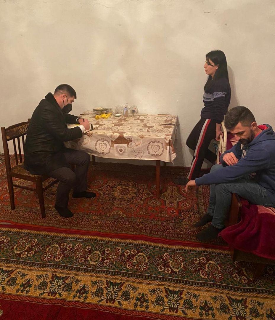 Сотрудники DOST посетили семьи еще двух участников Второй Карабахской войны