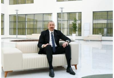 Президент Ильхам Алиев дал интервью Азербайджанскому телевидению - ОБНОВЛЕНО - ВИДЕО